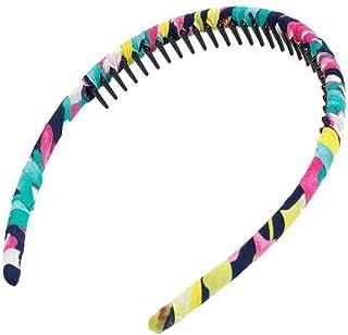 Multicolor Protection Resin Teeth Comb Hair Hoop Hairband #5