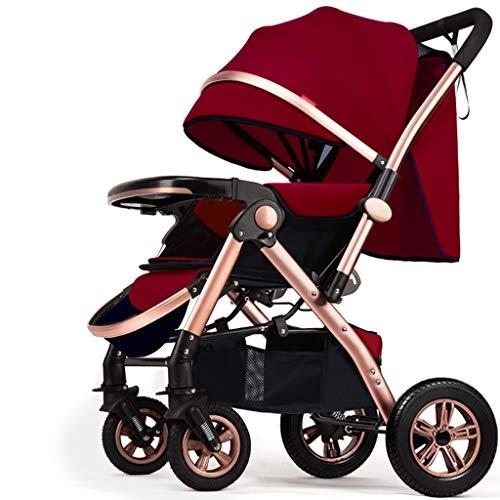 BLWX - Haute Paysage Poussette Peut s'asseoir inclinable léger Pliant bébé Parapluie Quatre Roues bébé léger système de Voyage Voiture Poussette Poussette (Couleur : H)