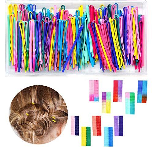 100 piezas Bobby Pins 20 colores horquillas pinzas para el cabello para damas y niñas