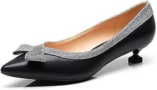 [OceanMap] ぺたんこなのに美脚 痛くない 歩きやすい ポインテッドトゥ ローヒール パンプス 黒 大きいサイズ 靴 ヒール スムース 脱げない 走れる 小さい 結婚式 オフィス レディース とんがり ヒール 3cm フォーマル
