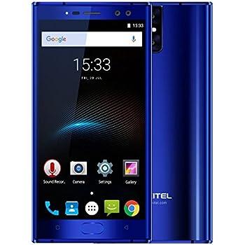 OUKITEL K3 - Pantalla FHD de 5,5 pulgadas Android 7.0 4G smartphone, 4 cámaras (2MP + 16MP cámara frontal, 2MP + 16MP cámara trasera), 6000mAh batería, Octa-Core procesador 4GB + 64GB- Azul: Amazon.es: Electrónica
