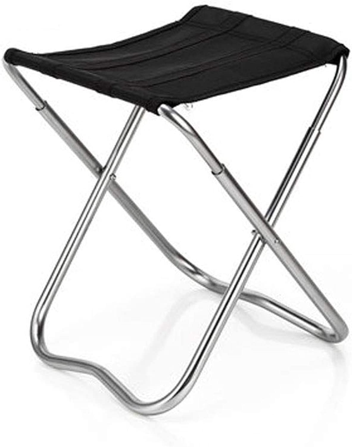 FH Outdoor Fishing Chair, Casual Portable Thick Folding Chair Camping Picnic Stool 23×19×29cm, Black