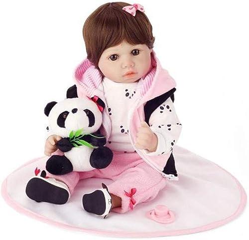 ahorrar en el despacho Realistas bebé Reborn muñecas, 20 pulgadas 55cm lindo realista bebé bebé bebé recién nacido muñecas niña-Panda ropa, regalo de cumpleaños de juguete de silicona suave del Niño para Niños presente conjunto  bienvenido a comprar