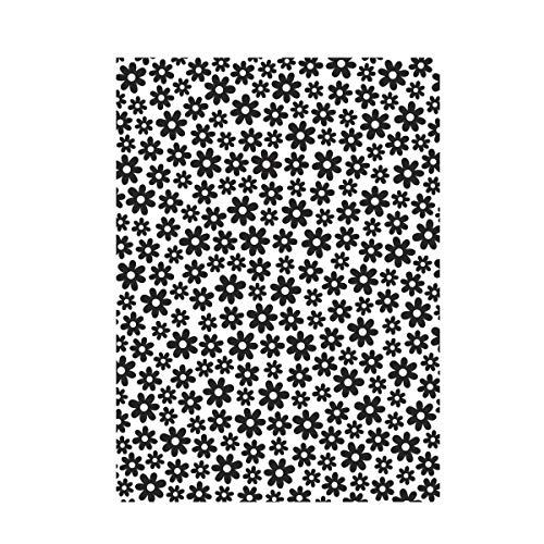 Darice 30008381 Embossing Folder-Classeur de Gaufrage-Modèle Fond avec Marguerites-10,8 x 14,6 cm, Plastique, Transparent, 10,8 x 14,6 x 0,3 cm