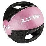 arteesol Medizinball mit Griff, 3/4/5/6/7/8/9/10/12KG Medizinball, für Jede Trainingsroutine,...