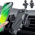VANMASS 2020 Upgrade Handyhalterung Auto Lüftung Kfz Handyhalterung 100% Silikonschutz mit 2 Patentiertet Lüftungclips 360° Drehbar Smartphone Halterung Auto Für iPhone Samsung Huawei LG Xiaomi usw