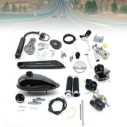 Kaibrite Motor de gasolina de 2 tiempos, motor auxiliar de 80 cc, para bicicleta de montaña, de carretera, cruiser