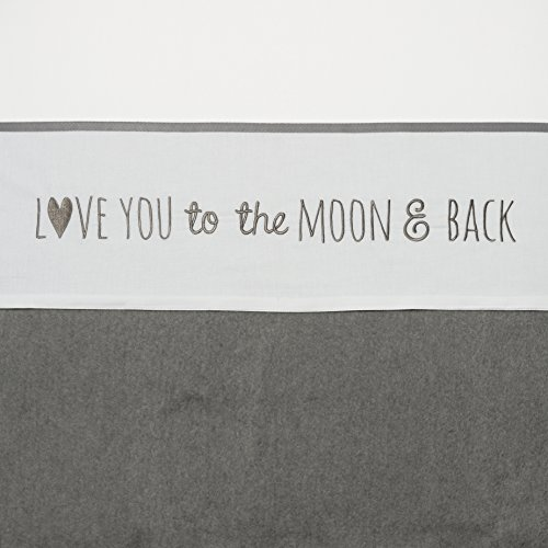 Meyco Lot 414050 Grand Lit Drap Love You to the moon & Back, 100 x 150 cm, GRIS
