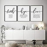 mocarrie Bibel Vers Poster Und Drucke Glaube Hoffnung Liebe