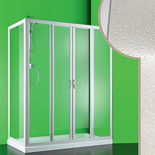 Cabine douche 90x170 CM en acrylique mod. Mercurio 2 avec ouverture centrale