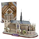CubicFun National Geographic Puzzle 3D Notre Dame de Paris Gótica Kit Modelo de Edificio, 128 Piezas