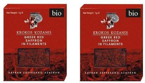 Krokos Kozanis Zafferano rosso greco in filamenti 2x1g di Cooperative De Safran [Foods] di Cooperative de Safran [Foods]