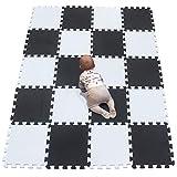 YIMINYUER Kinderspielteppich Spielmatte Puzzleteppich Schaumstoffmatte schadstofffrei für Baby Puzzleteppich Steckmatte Spielteppich Krabbelmatte Turnmatte...