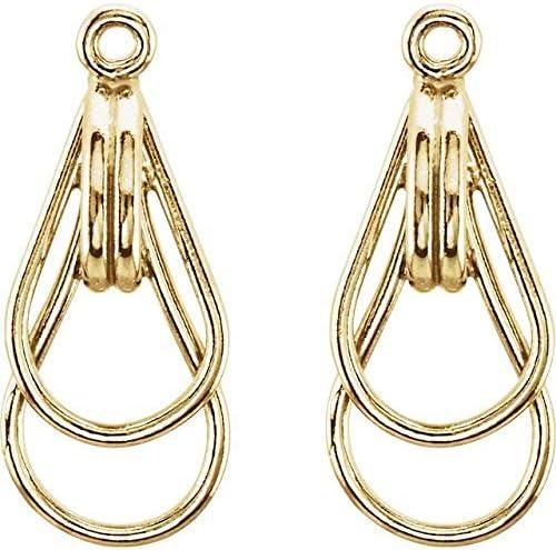 14K Yellow Gold Freeform Earring Jackets Freeform Earring Jackets