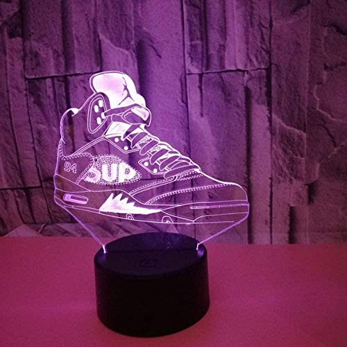 3D Illusie Lampcreative Kleurrijke sportschoenen USB Kinderen Volwassen Geschenken Thuis Meubels