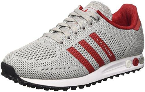 adidas La Trainer Em, Scarpe da Ginnastica Basse Unisex – Adulto, Grigio (Clear Onix/Power Red/Ftwr White), 36 2/3 EU