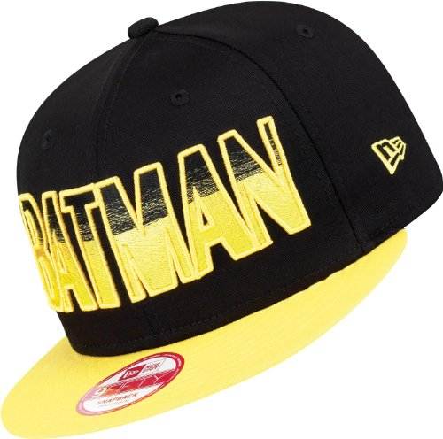 New Era x DC Comics - Casquette Snapback Homme 9Fifty Hero Fade Batman - Black/Yellow - Taille M/L