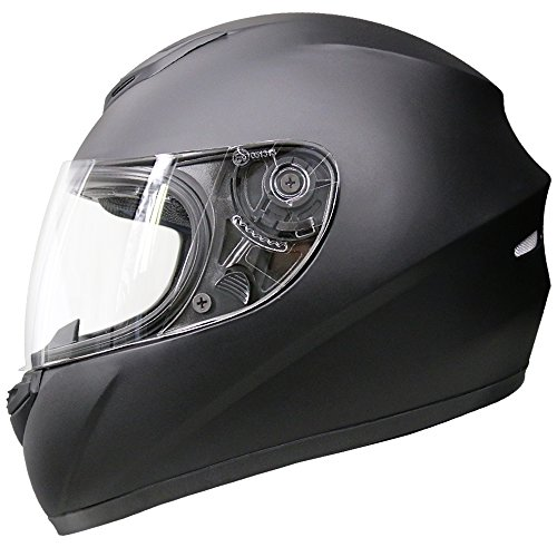 Leopard LEO-819 ECE 2205 Approved Full Face Motorbike Helmet Motorcycle Helmet - Matt Black S (55-56cm)
