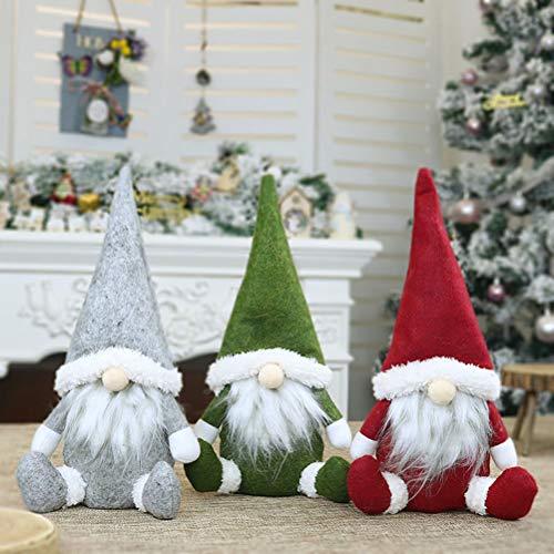 Bestvery Weihnachten Deko Wichtel 31Cm Hoch,Gesichtslos Weihnachtsmann Gnom Puppe Weihnachts Zwerg Geschenke FüR Kinder Familie Weihnachten Freunde,PlüSchtier, Kuscheltier, Stofftier