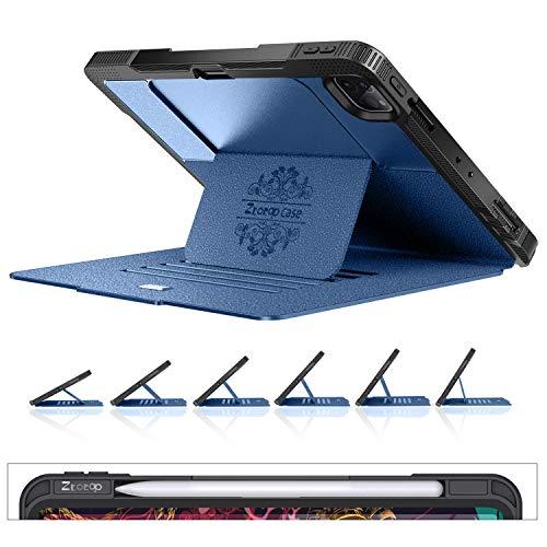 ZtotopCase Hülle for iPad Pro 11 2020/2018,Magnetisch Schutzhülle Case mit Pencil Halter und 6 Betriebswinkel,Auto Aufwachen/Schlaf,Cover für iPad Pro 11 Zoll 2.Gen/1.Gen,Navy blau