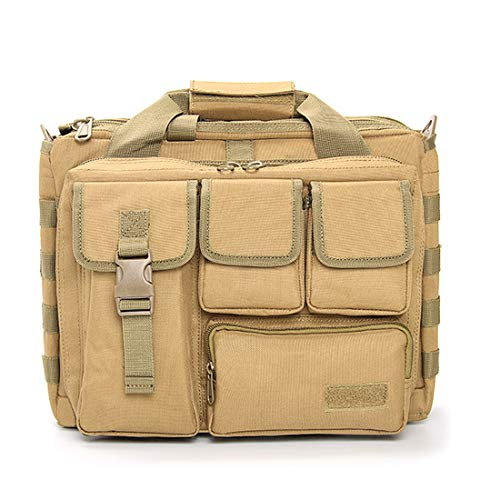 BAIGIO Mochila Bandolera Militar Táctica Multifunción Maletín para Portátiles Messenger Bag Bolsa de Mensajero Grande Bandolera Hombre para iPad Bolso para Ordenador