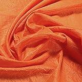 Stoff Polyester Crash Kleidertaft orange gecrasht