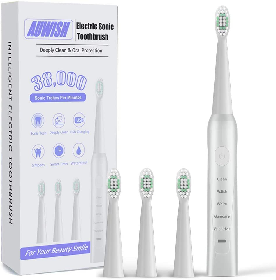 Auwish Rechargeable Sonic Electric Toothbrush Max 51% OFF for and Kids quality assurance Adult