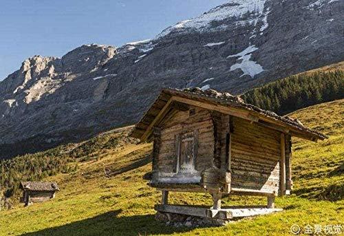 JHEU Puzzle 1000 Stück Holzpuzzle Puzzle Puzzle für Zwei aus dem Eiger-Puzzle in den Schweizer Alpen