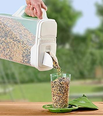 Buddeez 8Qt Pet Food/Bird Seed Storage Container and Dispenser - Flip Lid/Pour Spout with Durable Handle
