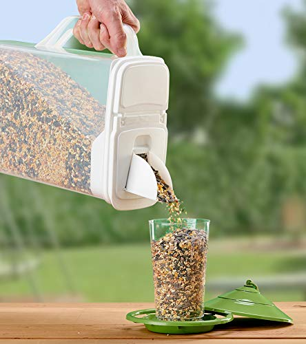 Buddeez 8Qt  Pet Food / Bird Seed Storage Container and Dispenser - Flip Lid /Pour Spout with...