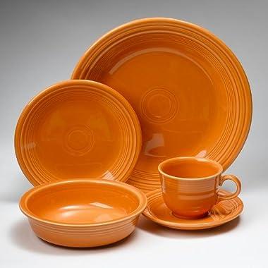 Fiesta Dinnerware 20 Piece Dining Set - Tangerine Orange - 855325