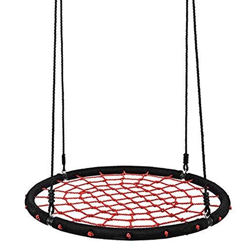 Columpio Infantil, Silla Colgante para Niños de Red Redonda de 40' Capacidad de 400libras, Kids Nest Swing Seat Web Spider con Cuerdas Colgantes para Jardín Infantil Interior y Exterior