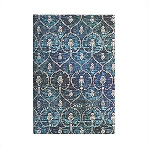 Paperblanks Agende 18 Mesi 2021-2022 Velluto Blu   Orizzontale   Mini (95 × 140 mm)