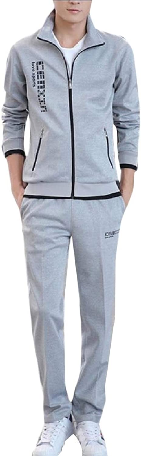 FXLM Men Zip Active Slim Fit 2Piece BigTall Relaxed Tracksuit Outfit