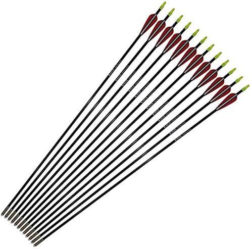UUS 12Pcs 31'' Fiberglass Arrows Bow Children All items in the store Recurve Seasonal Wrap Introduction Archer for
