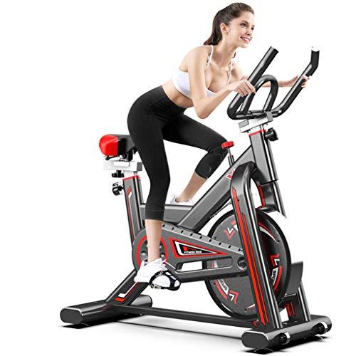 Ergometer Fahrrad, Spin Bikes Für Zu Hause, Hochleistungsrahmen, Mit Verstellbaren Griffen, Herzfrequenzsensor, Rollbaren Rädern, Geeignet Für Aerobes Radfahren, 92X105x50 cm