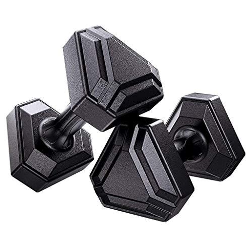ZTKBG Dumbbell Oefening Fitness Een paar van Rubber PVC Dumbbell Gewicht Lifting, Core Training - Platte Hoofd Voorkomt Rolling Ergonomisch Comfort Gemakkelijk Grip Dumbbells