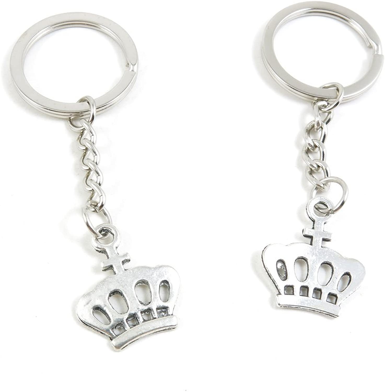 220 Pieces Fashion Jewelry Keyring Keychain Door Car Key Tag Ring Chain Supplier Supply Wholesale Bulk Lots F3FV8 Crown