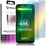 NALIA (2-Pack) Schutzglas kompatibel mit Motorola Moto G7 Plus, 9H Full-Cover Bildschirm Schutz Glas-Folie, Dünne Handy Schutzfolie Display-Abdeckung, Screen Protector Tempered Glass - Transparent