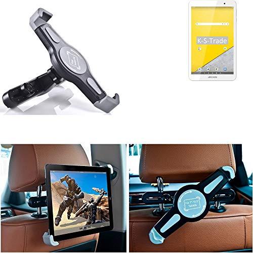 K-S-Trade Tablet Holder for Archos T80 Wi-Fi Car Headrest Holder 360° Car Seat Holder Headrest Holder Tablet PC Headrest Car Seat Tablet PC Travel Holder