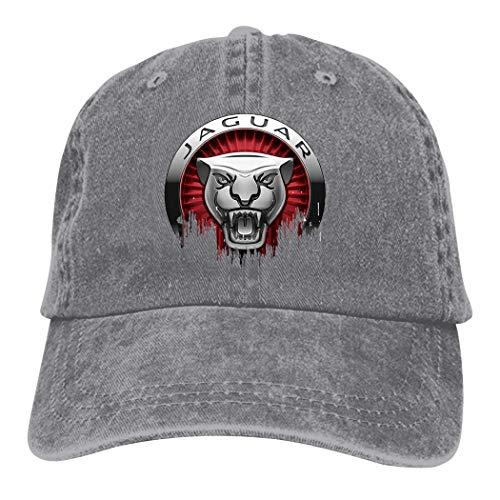 TEJNFDHSRRE Jag-uar Unisex Car Logo Cowboy Hat Adjustable Casual Baseball Cap Denim Dad Hat