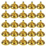 STOBOK Mini Bandierine Rotonde Basi Portabandiere Aste Portabandiera da Tavolo Portabandiera Decorazioni da Tavolo Bomboniere Oro 28P