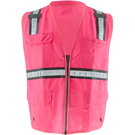 Safety Depot Breathable Safety Vest Multiple Colors Available 4 Lower Pockets Mesh Royal Blue, Medium 2 Chest Pockets with Pen Divider /& High Visibility Reflective Tape MP40