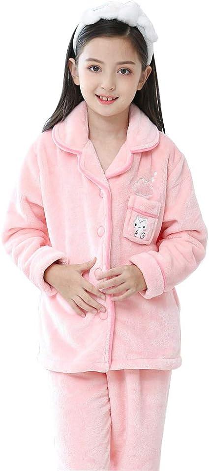 Pijamas Pijamas de niñas Pijamas de otoño Invierno de Franela ...