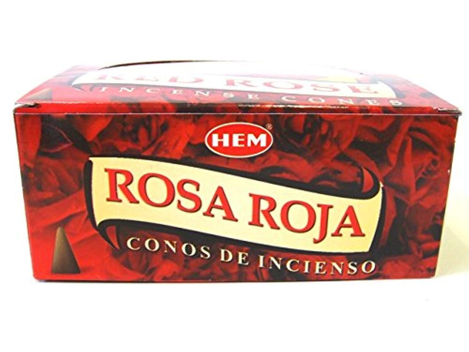 ガイド仕方ギャングHEM お香 レッドローズ(RED ROSE) コーンタイプ 1ケース(12箱入り) お香薔薇