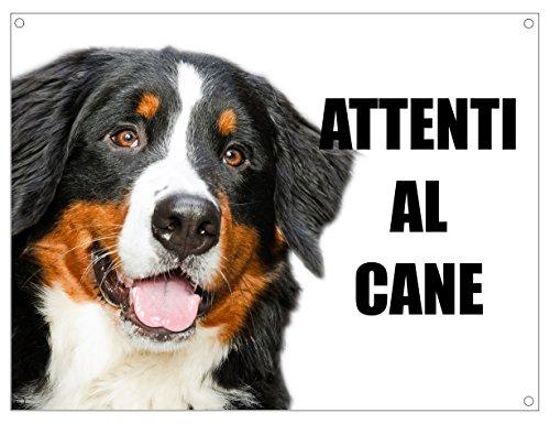 BOVARO DEL BERNESE attenti al cane mod 1 TARGA cartello IN METALLO (15X20)