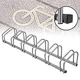 Froadp Mehrfachständer Fahrradständer für 6 Fahrräder Fahrradparker Boden und Wandmontage