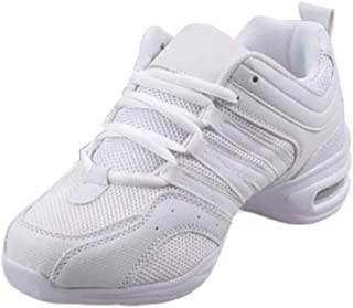 Inlefen Female Mesh Cloth Comfort PU Sole Shoes Jazz Modern Dance Sport Shoes