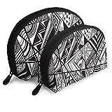 XCNGG Bolsa de almacenamiento Tangram patrón geométrico costura portátil viaje maquillaje bolso impermeable organizador de artículos de tocador bolsas de almacenamiento