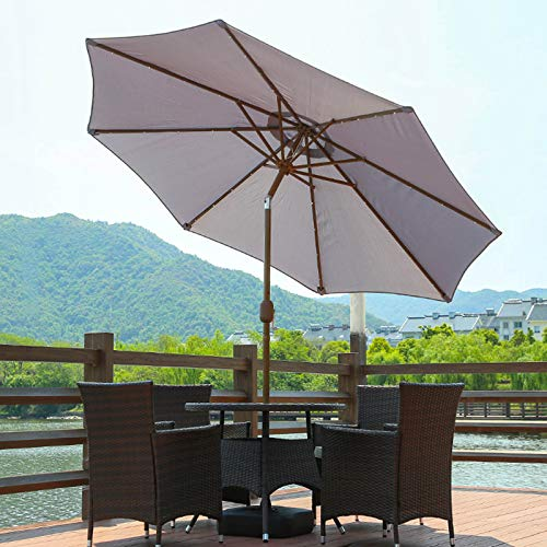 CMJM 8.8ft Solar Umbrella LED Lighted...